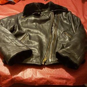 Neiman marcus anne Klein culture leather jacket s